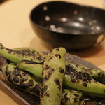 炭火焼鳥 榊 - 本日のおすすめ そら豆焼き