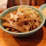 つけそば屋 麺楽 - 野菜+めんま