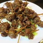 福の市 - 羊肉のクミン炒め