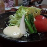 烏山 - 野菜サラダ やはりこの自家製マヨネーズ美味しい!