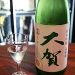 悠久乃蔵 しゃぶしゃぶと糀料理、日本酒 - 大賀 純米吟醸