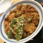 てんぷら 加藤 - 料理写真:かき揚げ丼アップ