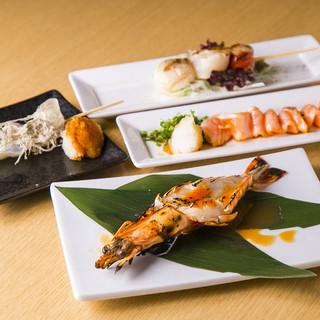 旬な魚介類も絶品の品々をご用意