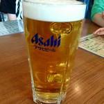 かみもっちうどん - 生ビール