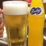 中華料理 哲ちゃん - その他写真:昼乾杯!息子とサッカーの後、久しぶりに哲ちゃんでビール。旨い プハー\(^o^)/