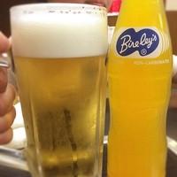 中華料理 哲ちゃん-昼乾杯!息子とサッカーの後、久しぶりに哲ちゃんでビール。旨い プハー\(^o^)/