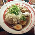 ドラゴンパンチ - 【あさりと鶏の汁そば + 煮玉子】¥800 + ¥150(税抜)