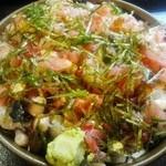 魚河岸寿司 - 荒海丼ちょい盛り¥1350