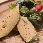 トラットリア フラテッリ ガッルーラ - ガッルーラのスペシャリテ「フォアグラのスモーク」とマンゴー はちみつのソース