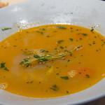 トラットリア フラテッリ ガッルーラ - チュピンの煮汁をお皿にとってみました