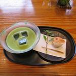 一石庵 - 冷 抹茶 季節の菓子付