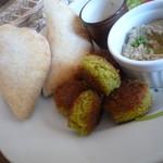 カフェ ル パラディ - ひよこ豆のコロッケ