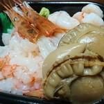 極海鮮 丼丸 - えび三昧+煮ほたてトッピング