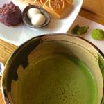 50760564 - 抹茶の拡大。複数の旨味が重なり合って、深みのある美味しさを作り出している感じ。