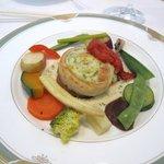Ma cuisine NAKAMURA - 魚料理は太刀魚のメダル作りシャンパンのソース、シブレット風味。