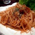 A.garden - 豚肉ともやしのうま辛トマト味噌炒め