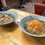 らーめんの石川五右衛門 - 料理写真:梅肉らーめんと、ねぎらーめん