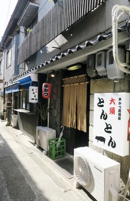 串かつ居酒屋 大須とんとん - 路地裏にあります