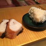 金寿司 - 房州勝浦の真蛸と塩茹でにした玉子