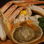生け簀の甲羅 - 茹でカニ1980円