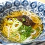 50780038 - 炭火焼き野菜(椎茸、長葱)、あご出汁、五島うどん