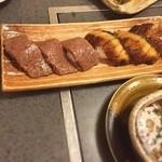市橋 - 肉寿司・・