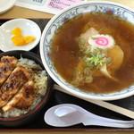 50783406 - Cセット(正油ラーメンと小さなソースカツ丼)
