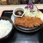 松乃家 - 味噌ロースかつ定食600円