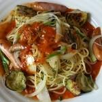 リッツ カフェ - 茄子とウインナーのメリースパゲッティ