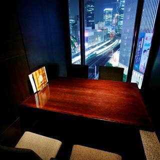 【夜景個室】デートや接待には、都内の夜景を眺められる個室を…