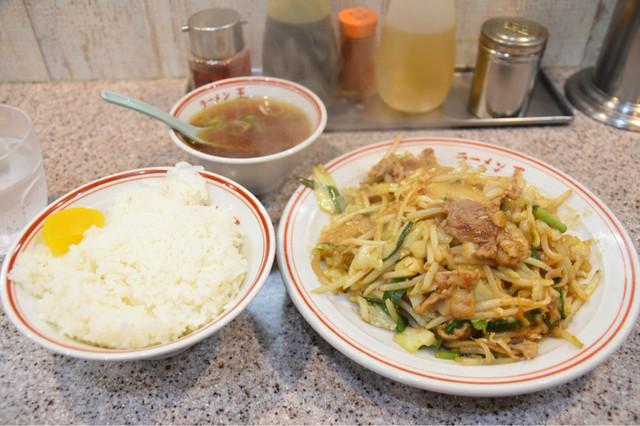 ラーメン王 後楽本舗  - 肉味噌炒め定食