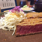牛かつ いち華 - 牛ヒレかつ定食3000円(限定10食)