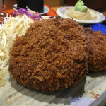 牛かつ いち華 - 牛メンチかつ定食1000円