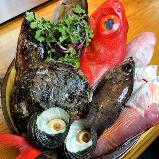 地魚を安く提供