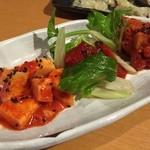 あけぼの食堂 - オリジナルキムチ3種