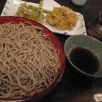 梅玉 - 野菜天ぷら付きもり1,000円