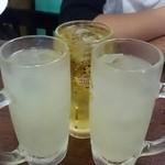 50801980 - レモンサワー、茶割り
