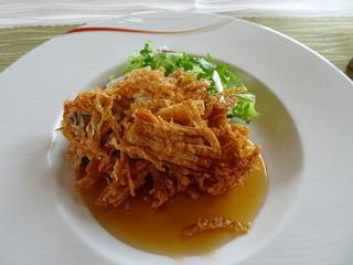 ル・シノワ かわで - 旬の魚(カマス) 湯葉まぶし揚げオイスターソース