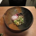 Sekiyou - 炙り鰹と鯛の刺身