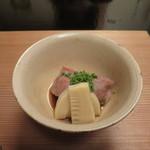 Sekiyou - 相州牛、筍、焼き粟麩、花山椒の焚き合せ