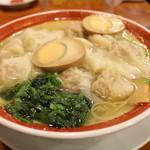 広州市場 - 広州雲呑麺+玉子