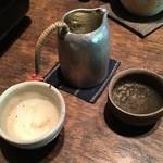 一如庵 - 日本酒1杯目:倉本(都祁)800円