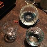 一如庵 - 日本酒2杯目:明鏡止水・ラヴィアンローズ(長野)900円