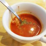 洋食のまなべ - スープです。 (^_^)v