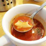 洋食のまなべ - スープマカロニです。 (*^O^*)