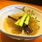 福寿司 - 付き出し(おきゅうと)