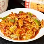 鳳玲軒 - キャベツと豚肉の味噌炒め