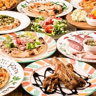 イタリア・ローマで学んだお酒好き石窯ピザ職人の宴会コース料理