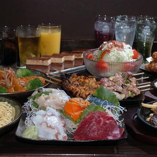 和洋中の織りなすお料理で各種ご宴会のご予約承っております」