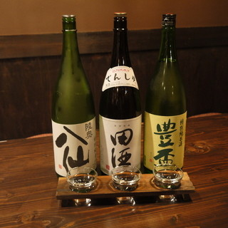 豊富な青森の地酒が楽しめます